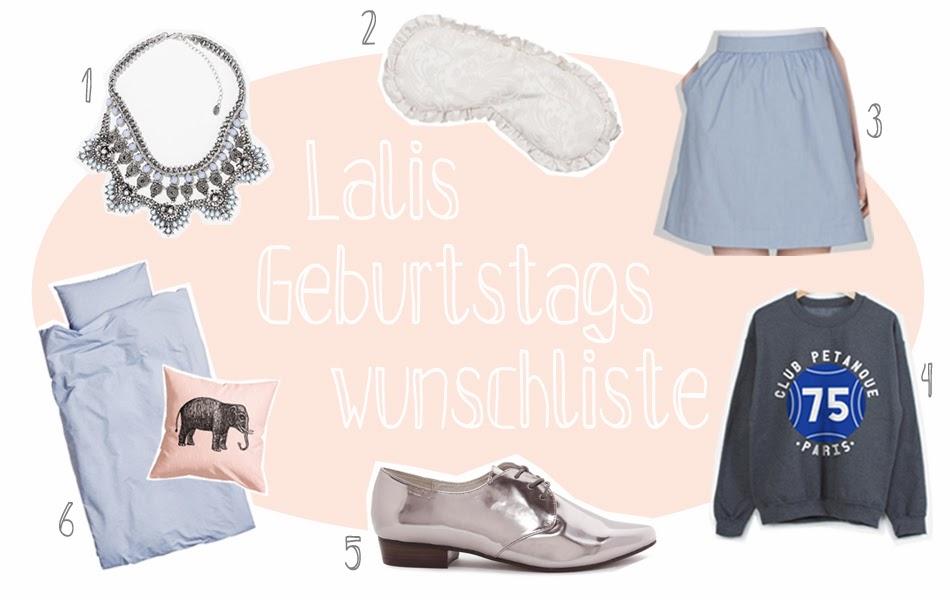 Geburtstagswünsche Wunschzettel Fashionblogger Wunschliste Happy Birthday