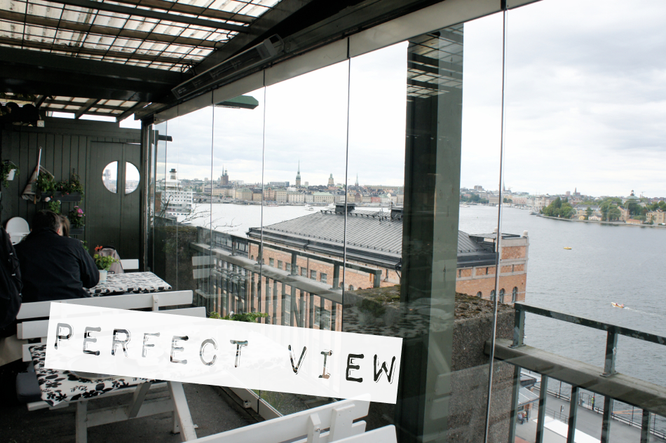 Stockholm von oben Fjällgatans Kaffestuga Södermalm gemütlich