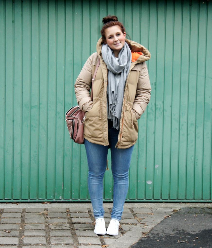 Adidas NEO Winterjacke beige hellbraun