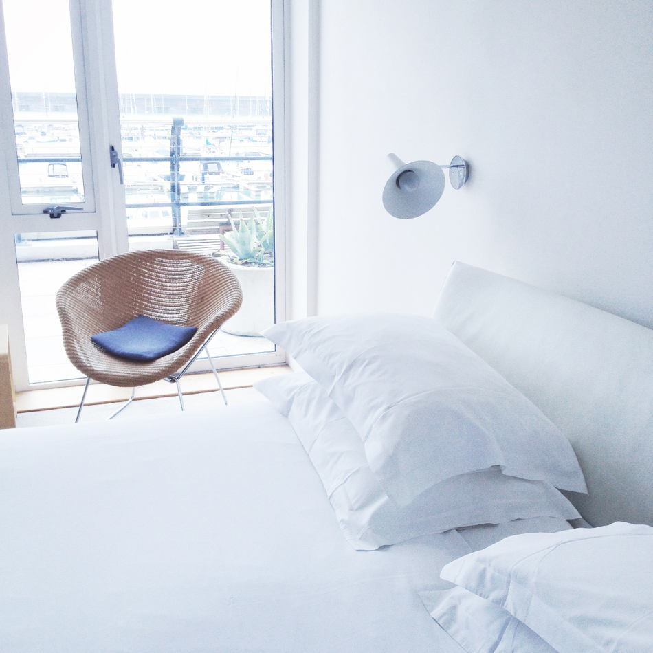 Brighton Unterkunft modern weiß