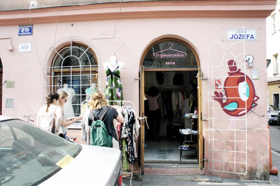 Vintageshop in Krakau